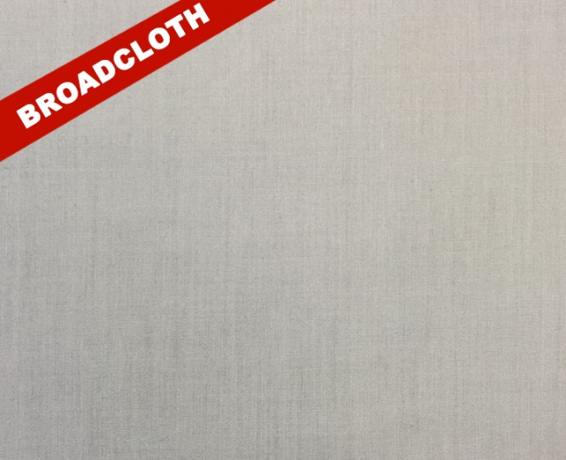 Silver Polyester Cotton Broadcloth Fabric