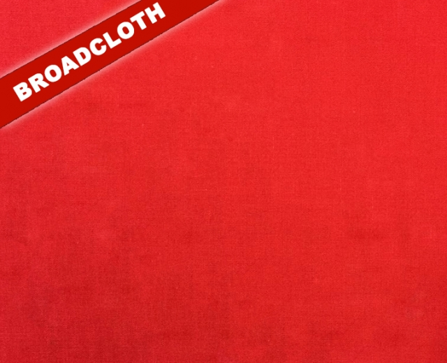 Red Polyester Cotton Broadcloth Fabric