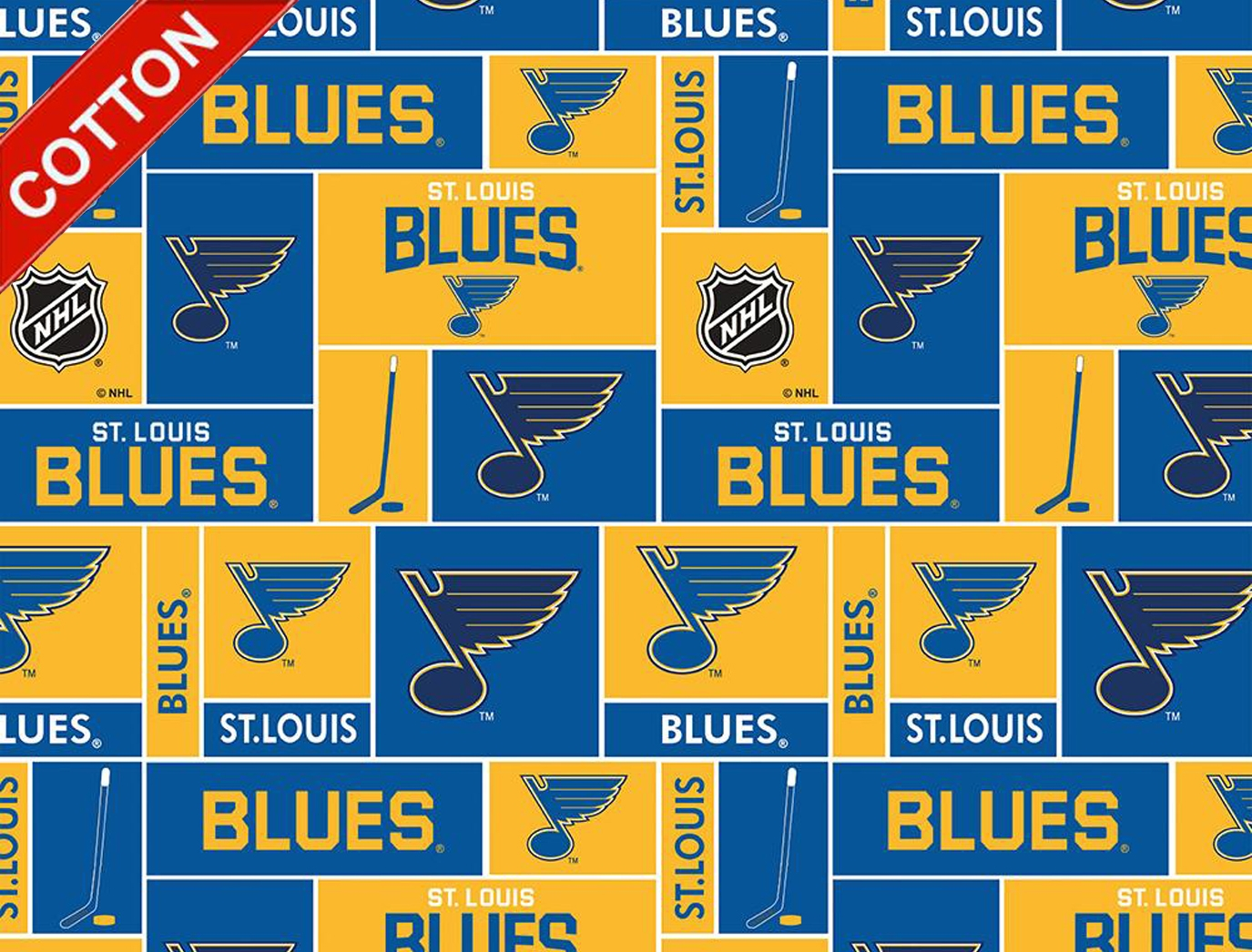 St. Louis Blues NHL Cotton Fabric