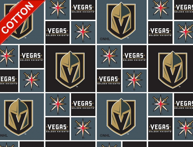 Las Vegas Knight NHL Cotton Fabric