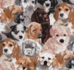 Puppies Fleece Fabric