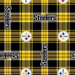 Pittsburgh Steelers Plaids NFL Fleece Fabric