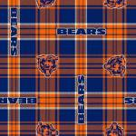 Chicago Bears Plaids NFL Fleece Fabric