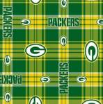 Green Bay Packers Plaid NFL Fleece Fabric
