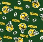 Green Bay Packers Allovers NFL Fleece Fabric