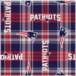 New England Patriots Plaid NFL Fleece Fabric