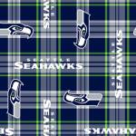 Seattle Seahawks Plaids NFL Fleece Fabric