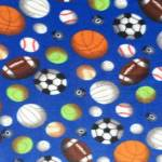 Allsports Balls Fleece Fabric