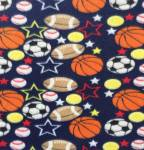 Multi Sports Navy Fleece Fabric