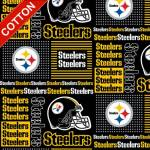 Pittsburgh Steelers Blocks NFL Cotton Fabric