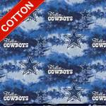 Dallas Cowboys Tie Dyes NFL Cotton Fabric