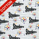 Pittsburgh Steelers Grey NFL Cotton Fabric