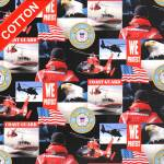 US Coast Guards Military Branches Cotton Fabric
