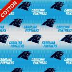 Carolina Panthers Allover NFL Cotton Fabric