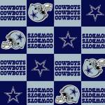 Dallas Cowboys Blocks NFL Fleece Fabric