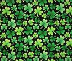 Irish Shamrock Clovers Fleece Fabric