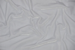 White Stretch Velvet Fabric