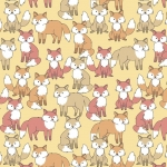 Foxes Allover Fleece Fabric