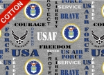 United States Air Force Heather Cotton Fabric