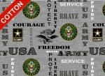 United States Army Heather Cotton Fabric