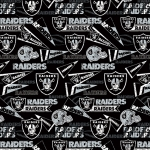 Oakland Raiders Retro NFL Fleece Fabric