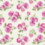 Pink Blossom Roses Allover Fleece Fabric