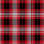 Black & Red Plaid Fleece Fabric