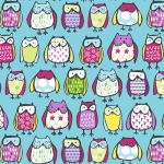 Standing Owlies Fleece Fabric