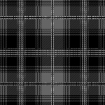 Tartan Plaid Black & Gray Fleece Fabric