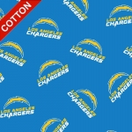 Los Angeles Chargers Allover NFL Cotton Fabric